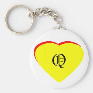 Convite vermelho amarelo do casamento do coração d chaveiros