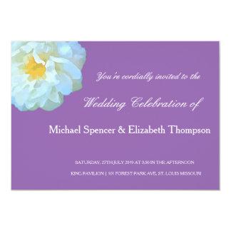 Convite violeta clássico do casamento da flor