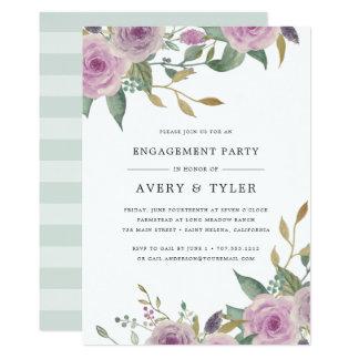 Convite violeta & prudente da festa de noivado