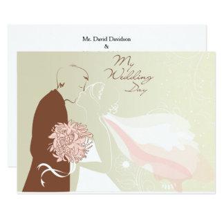 Convite Wedding do casamento do beijo