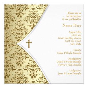 Convites Batizado Branco Zazzlept