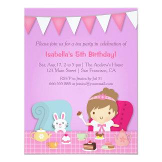 Convites bonitos do aniversário da princesa tea