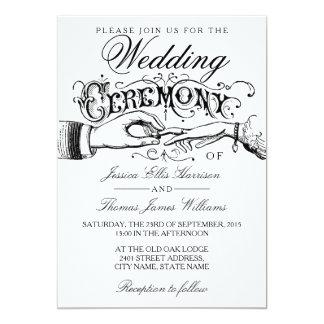 Convites brancos elegantes da cerimónia de convite 12.7 x 17.78cm