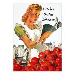Convites Chás de panela retros da cozinha do vintage