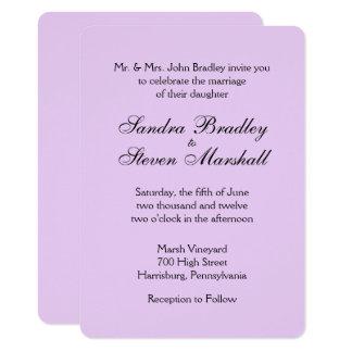 Convites clássicos do casamento da lavanda