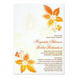 convites clássicos do casamento das folhas de