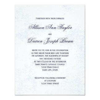 Convites clássicos do casamento no azul
