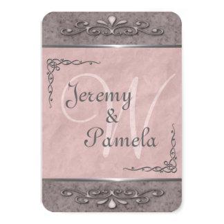 Convites cor-de-rosa customizáveis à moda do