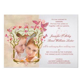 Convites da árvore do casamento da foto