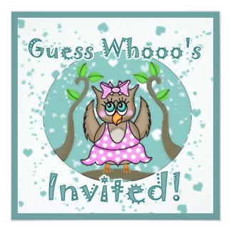 Convites da bailarina da coruja