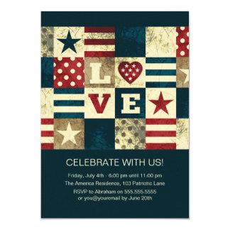 Convites da celebração de América julho quarto do
