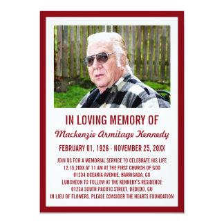 Convites da cerimonia comemorativa ou do funeral convite 12.7 x 17.78cm