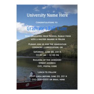 Convites da cerimónia de graduação convocação