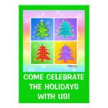 Convites da festa de Natal - Natal Tr do pop art