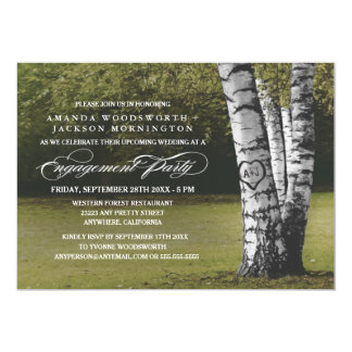 Convites da festa de noivado das iniciais da