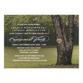 Convites da festa de noivado das iniciais do
