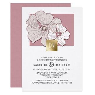Convites da festa de noivado do design floral