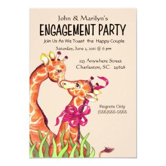 Convites da festa de noivado do girafa