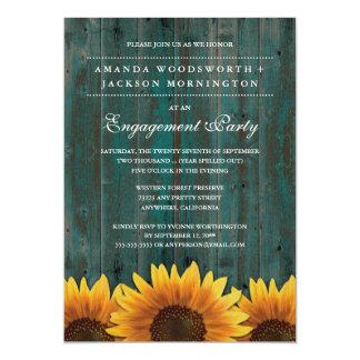 Convites da festa de noivado do girassol do país