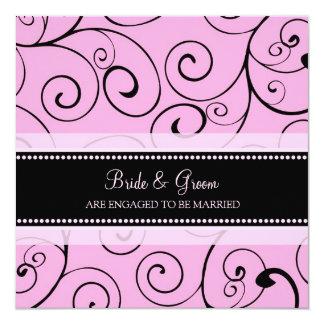 Convites da festa de noivado do redemoinho do