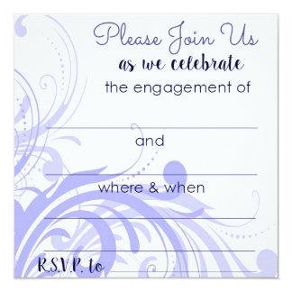 Convites da festa de noivado na pervinca