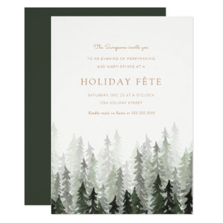Convites da festa natalícia da floresta do pinho