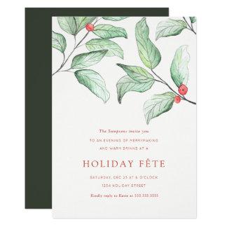 Convites da festa natalícia das bagas do inverno