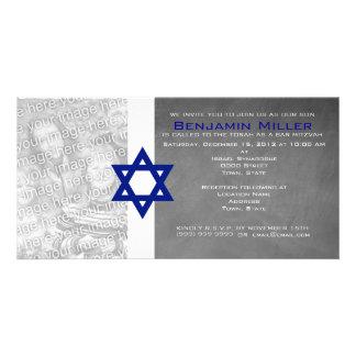 Convites da foto de Mitzvah do bar Cartão Com Foto