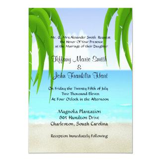 Convites da praia/casamento do oceano convite 12.7 x 17.78cm