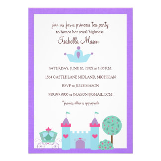 Convites da princesa tea party