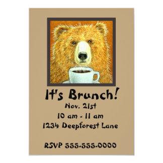 Convites da refeição matinal do urso do café