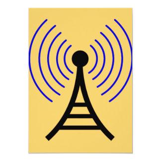 Convites da torre de rádio