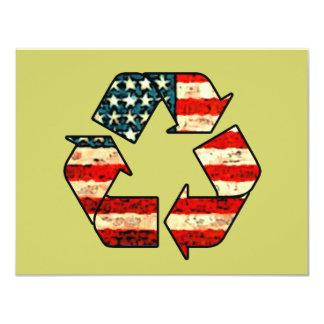 Convites de América do reciclar