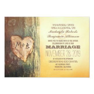 Convites de casamento cinzelados rústicos da
