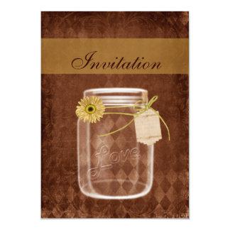 convites de casamento rústicos do frasco de convite 12.7 x 17.78cm