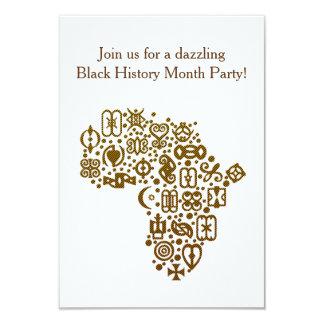 Convites de festas africanos dos símbolos BHM