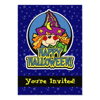 convites de festas azuis do Dia das Bruxas da
