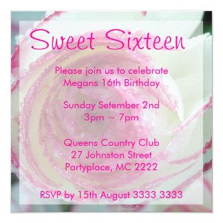 Convites de festas cor-de-rosa afiados cor-de-rosa
