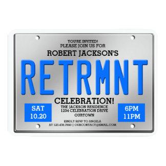 Convites de festas da aposentadoria da matrícula