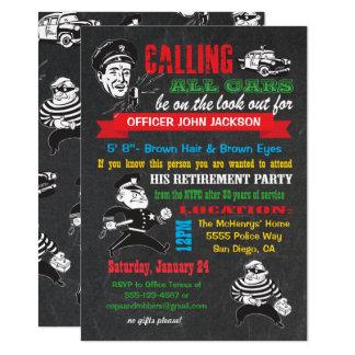 Convites de festas da aposentadoria da polícia do
