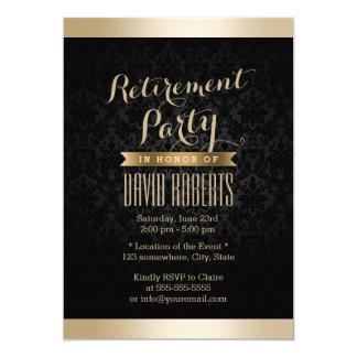 Convites de festas da aposentadoria do damasco do