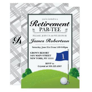 Convites de festas da aposentadoria do golfe