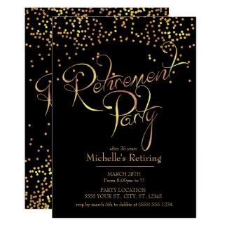 Convites de festas da aposentadoria do ouro
