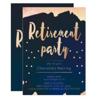 Convites de festas da aposentadoria do ouro & do