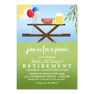 Convites de festas da aposentadoria do piquenique