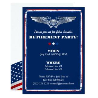 Convites de festas da aposentadoria para a força