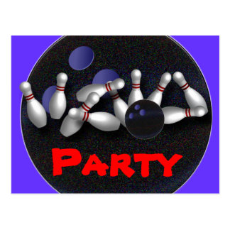 Convites de festas da boliche customizáveis cartao postal