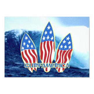 Convites de festas da onda de América do surf