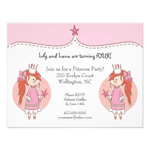 Convites de festas de aniversários da princesa Gêm