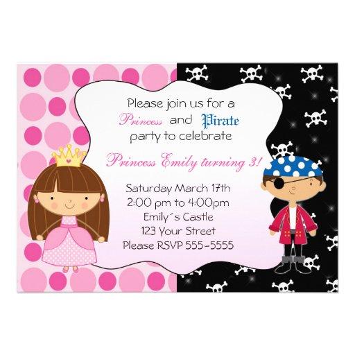 Convites de festas de aniversários da princesa Pir